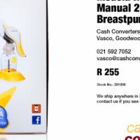 Medela Harmony Manual 2-Phase Breastpump (As New)