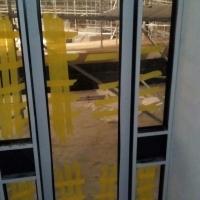 ALUMINIUM HINGE DOOR WITH MAG LOCK AND SIDE FIXTURES