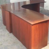 Executive Dark Wood desk with credenza