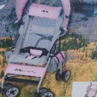Jeep stroller pink and grey never used,in box