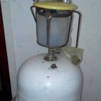 GAS LAMP MET SY GASBOTTEL(LEEG)
