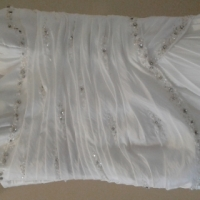 White wedding gown for sale