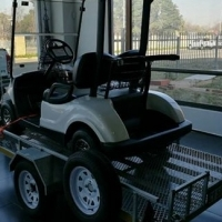 2014 Galvanised Trailer with 2011 Yamaha Golf Cart