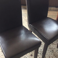 Leather diningroom chairs
