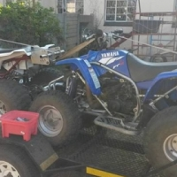2 yamaha blasters and trailer