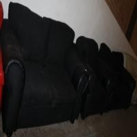 Black lounge suite S026208a