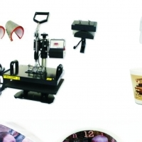 Combination T shirt Mug, Cap and Plate Press 8 in 1