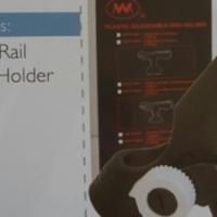 Black Plastic Rail Mount Rod Holder B5-134