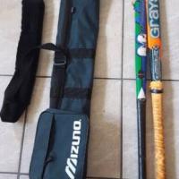 Hockey sticks with bag