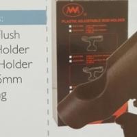 Black Plastic Flush Mount Rod Holder