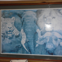 Wall Decoration - Big Five with frame