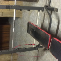 Gym bench,weights and Bars