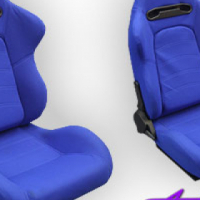 Evo Tuning GT Reclinable Racing Seats (blue)