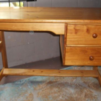 Strong + sturdy wooden desk