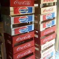 Wooden cooldrink crates.