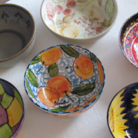 Large Hand Painted Ceramic Serving Bowls