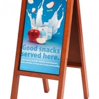 Clever Canvas Wooden Cafeteria Style 27inch Advertising HD board