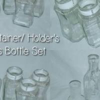 Glass Bottles & Glass Pots/ Offers