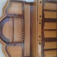 Yellowwood and Imbuia Display Cabinet