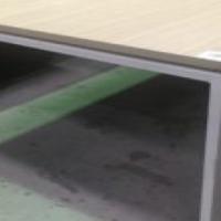 Greyish square desk