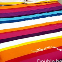 Double bed with free bedding