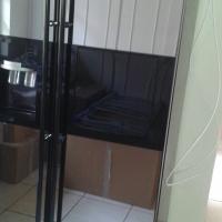 New mirror dbl door fridge