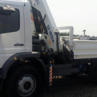 2008 Mercedes - Benz 1523, 4x4 truck with a dropside and cab mounted crane