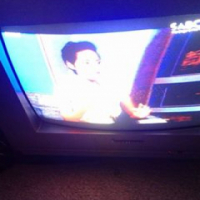 """Small 14"""" Diamond colour tv with Arial in perfect working order"""