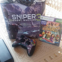 Xbox 360 with kinect 250 gb and game