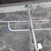 Outdoor TV aerial and pole for sale