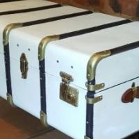 2 antique steamer trunks