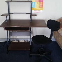 Computer desk/stand plus chair