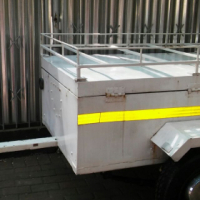 3ft Luggage Trailer with Lid and Roof Rack