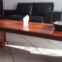 Sleeper wood coffee table