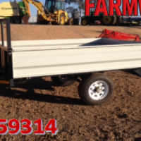 S2649 Silver Verrigter 2 Ton Dropside Trailer 2  New Trailer