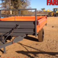 S2650 Orange Verrigter 5 Ton Tip Trailer With Dropsides  New Trailer