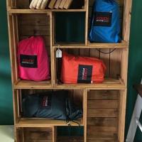 Pine Crate Shelving unit - Varnished