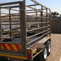 NEW 3.5M 3 TON CATTLE TRAILER