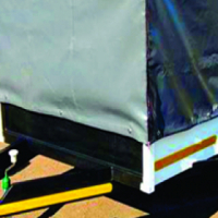 Tarpaulin covers and Mesh added on trailers