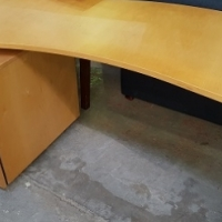 Wavy office desk