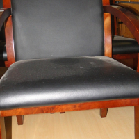Beautiful Executive Dark wood & Leather Boardroom chairs in excellent condition - R850 each Neg