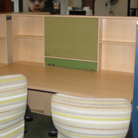 Beautiful&Exclusive Double Workstation with 2 door Stationary cabinet & 2 Double Pedestals - R5,500