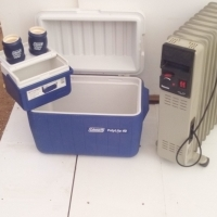 Cooler Box and Drinks Cooler and Electric Heater 7 panel