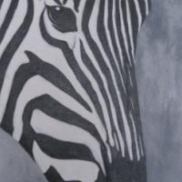Zebra's eye acrylic painting