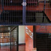 Metal three door cage