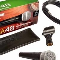 SHURE PGA48-XLR-E CARDIOID DYNAMIC VOCAL MICROPHONE