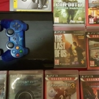 Ps3 500GBwith 10 games 2 remotes