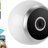 360-Degree IP Camera - Motion Detection, Wireless, Night Vision, App Support, SD Card Recording, HD