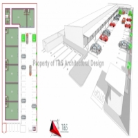 PROPOSED NEW RETAIL CENTER DESIGN HOUSE PLANS