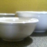 Nest of white bowls (3)